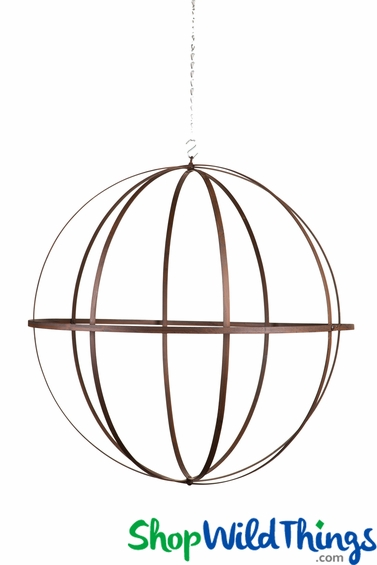 Large Wrought Iron Folding Round Ball Sphere 24 Inches