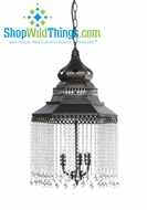Zahira  Metal and Crystal Chandelier (2+ Feet Tall!)