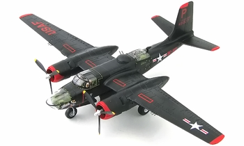 """A-26B Invader Model, USAF, 37th BS, """"Monie"""" - Hobby Master HA3220 - click to enlarge"""