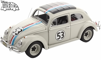 "Herbie ""The Love Bug"" VW Beetle 1:18 Diecast Model - Hot Wheels Elite - click to enlarge"