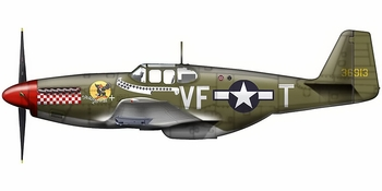 P-51B Mustang Model, USAAF, �Shangri La� - Hobby Master HA8501 - click to enlarge