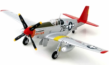 P-51C Mustang Model (Signed), Charles McGee - Hobby Master HA8507A - click to enlarge