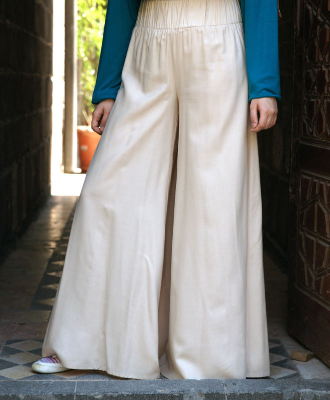 Super Wide-Leg Rayon Pants