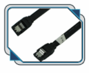 OKGEAR 24 inch SATA 6 Gbps Cable Straight to Straight W/ Metal Latch, Black