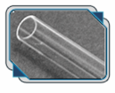 Rigid Clear Acrylic Tube - 6 Inch Length