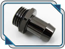 XSPC G1/4in. to 3/8in. ID Hose Barb Fitting (Black Chrome)
