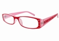 +4.0 Red Two Tone with Crystal Readers