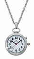 Dual Voice Pendant or Pocket Watch - Silver