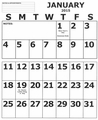 SightConnection Jumbo Print Wall Calendar 2015