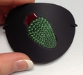Large Black Christmas Light Vinyl Eye Patch