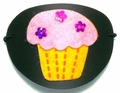 Large Black Pink Cupcake Vinyl Eye Patch