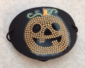Large Black Pumpkin Vinyl Eye Patch
