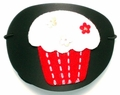 Large Black Red Cupcake Vinyl Eye Patch