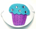 Large White Blue Cupcake Vinyl Eye Patch