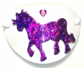 Large White Purple Pony Vinyl Eye Patch