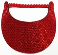 Miracle Lace Visor - Red Glitz