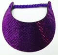 Miracle Lace Visor - Purple Glitz