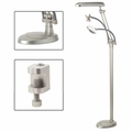OttLite 3 in 1 Adjustable Height Craft Floor Lamp with Magnifier and Hands-Free Clip
