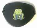 Small Black Gem Frog Vinyl Eye Patch
