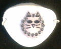 Small White Gem Kitty Vinyl Eye Patch