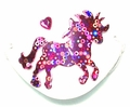 Small White Pink Pony Vinyl Eye Patch