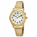 Spanish Dual Voice Lady's Talking Watch - Gold Tone