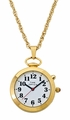 Dual Voice Pendant or Pocket Watch - Gold