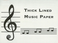 Thick Lined Music Paper