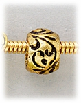 add-a-bead antique brass swirl design