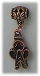 add-a-bead antique copper gingerbread man charm
