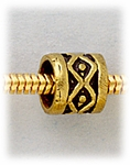 add a bead antique gold tube bead with diamond design