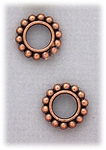 add-a-bead Antique pair copper beaded design rondelle