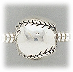 add a bead antique silver baseball bead