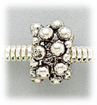 add-a-bead Antique silver beaded design rondelle
