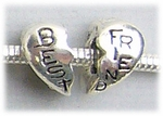 add-a-bead antique silver best friend 2 peace set