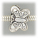 add a bead antique silver butterfly bead
