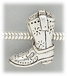 add-a-bead antique silver cowboy boot