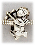 add-a-bead antique silver cupid