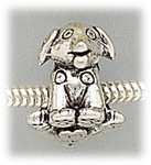 add-a-bead antique silver dog