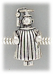 add-a-bead Antique silver graduating boy