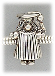 add-a-bead Antique silver graduating girl