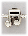 Add a bead antique silver music note bead