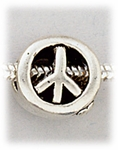 add-a-bead antique silver peace sign