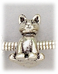 add-a-bead Antique silver plated sitting cat