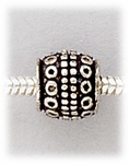 add a bead antique silver roundel with dotted design