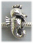 add-a-bead antique silver seahorse