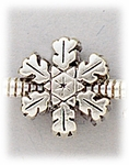 Add a bead antique silver snowflake bead