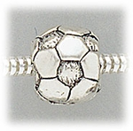 add-a-bead antique silver soccer ball