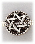Add a bead antique silver Star of David bead