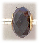 add-a-bead Black aurora borealis crystal with gold grommet